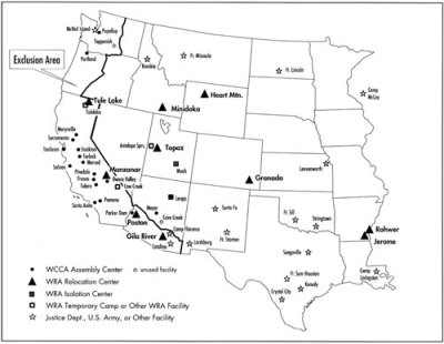 70 Years Since Executive Order 9066 Scott Ross - Map-of-japanese-internment-camps-in-the-us