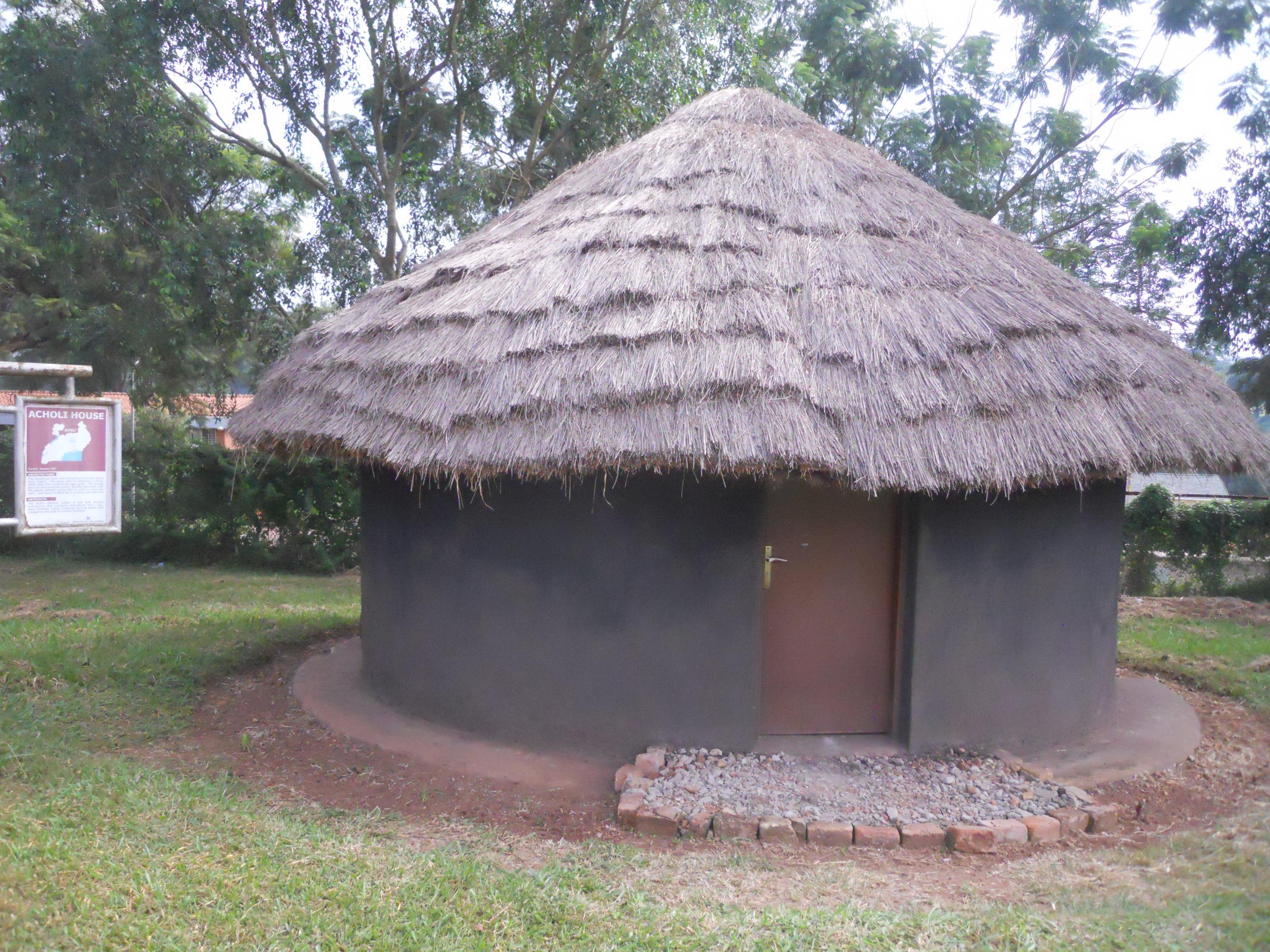 Replica of an acholi house at the uganda museum