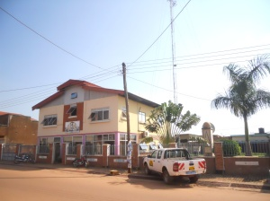 Mega FM radio station in Gulu town.