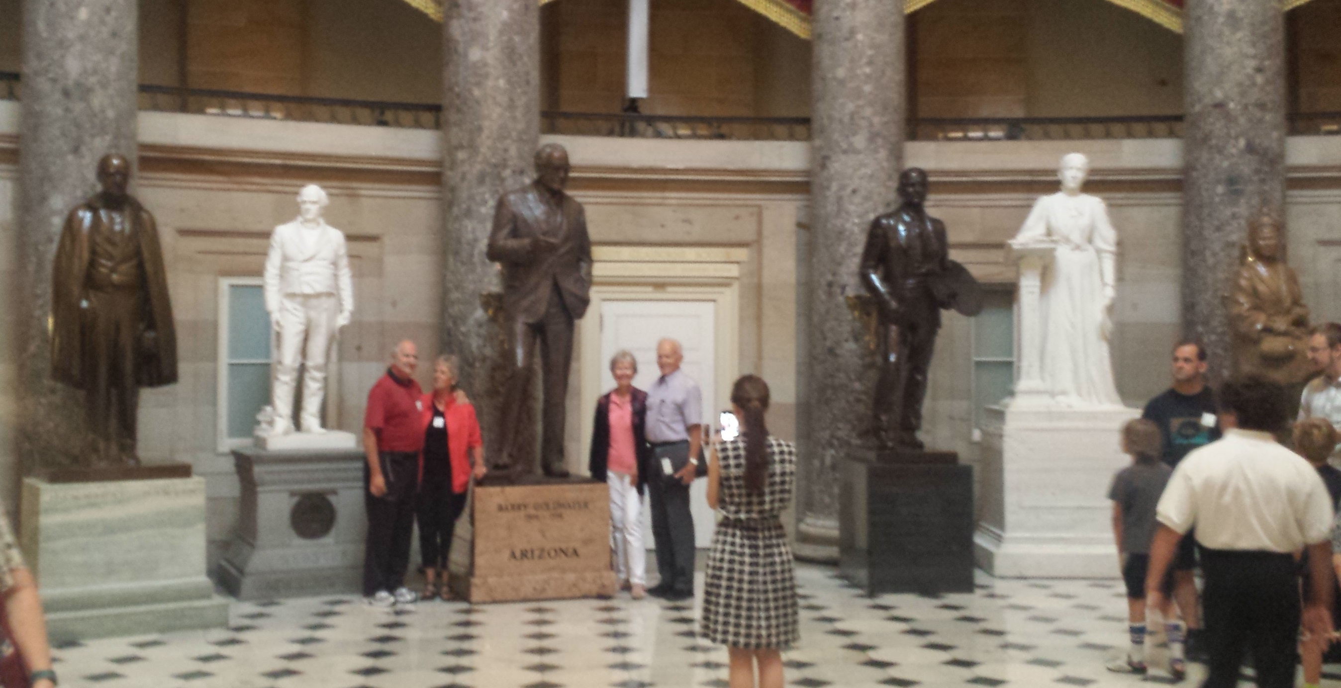 A statue of Andrew Jackson stands in the National Statuary Hall on Capitol Hill