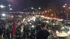 Activists shutting down a highway in New York City last November.