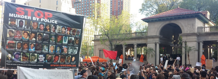 Protesters in Union Square this April.