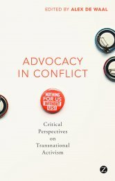 Advocacy in Conflict: Critical Perspectives on Transnational Activism, edited by Alex de Waal